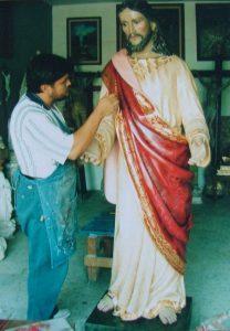 9 JESUS DE NAZARET Loma Bonita (pintando)